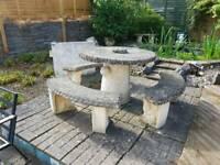 Stone / concrete garden furniture