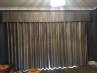 Lovely grey curtains and pelmet