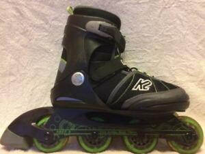 Kid's  Inline Skates (Rollerblades) K2 Eddy Jr. 78mm/78A ABEC 3 Adjustable Size 4 to 8