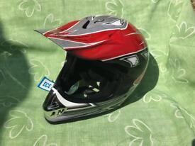 New Red XL Biker Helmet Motorcycle Motorbike Motocross