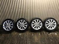 "Genuine 17"" Volkswagen Golf Alloy Wheels- 5x112 - will fit Audi, Seat , Skoda etc"