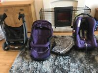 Graco travel System which cost us £350 brand new and has quick release car seat