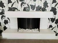 Housing Units wall-hanging electric fire suite
