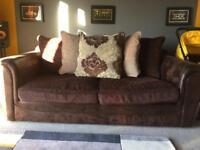 Brown 3 seater sofa FREE
