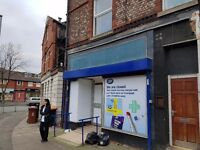 Crumpsall, double fronted retail shop to let