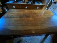 Hand made kitchen table solid wood.