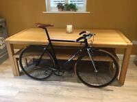 De rosa fixie bicycle 3 speed bike carbon belt drivr