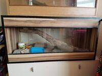 "Wooden vivarium with sliding glass doors 18""/18""/3ft"
