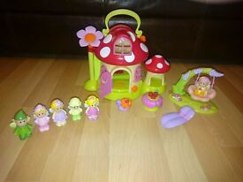 ELC Fairy Toadstool House with 6 fairies and furnitue