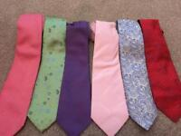 6 Silk Designer Ties