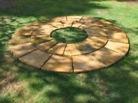 GENUINE YORKSTONE HERITAGE RIVEN circle BY MARSHALLS