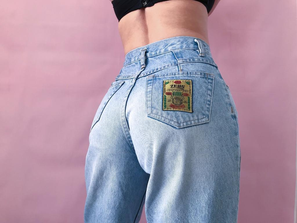 ecb3a6d2 Vintage 80s 90s High Waisted Jeans Women's ZEUS | in Mill Hill ...