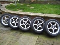 Toyota Celica 5 Spoke Alloy wheels and tyres