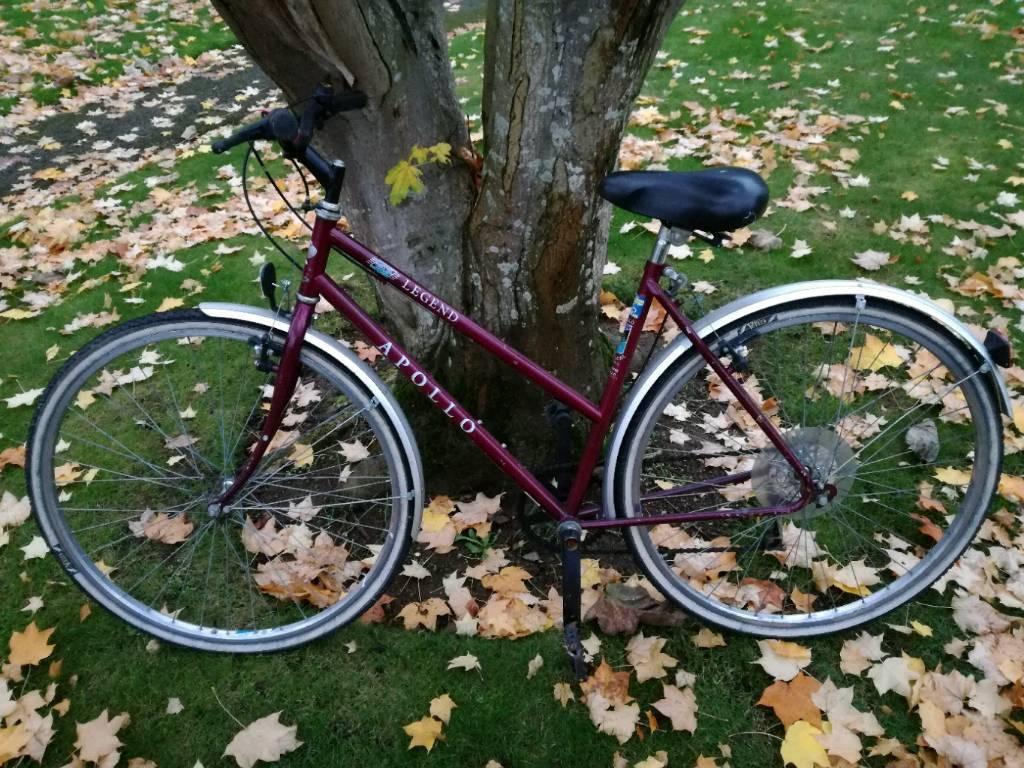 City bike woman