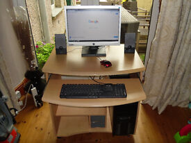 complete computer, desk,mouse + keyboard