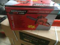 Petrol chainsaw in new condition