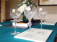 Crystal wine glasses x4