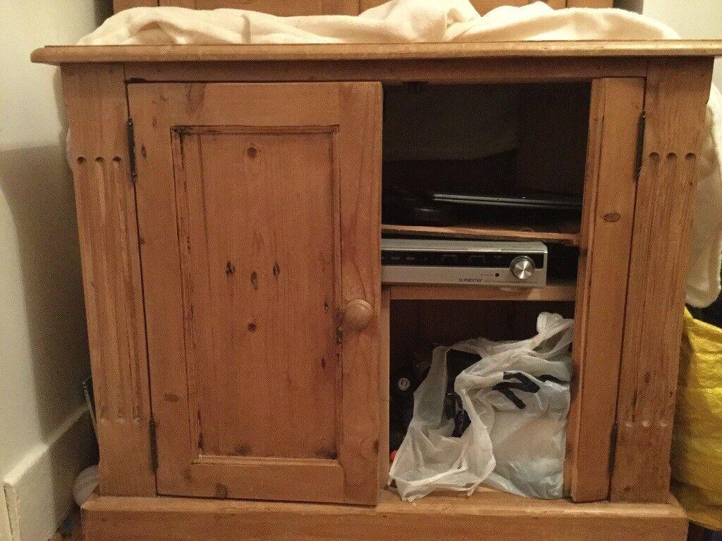 Antique pine TV cabinet - Antique Pine TV Cabinet In Eltham, London Gumtree