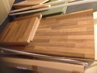 new 3 x worktop pieces, table top , kitchen work top ect must go cheap £10 ono