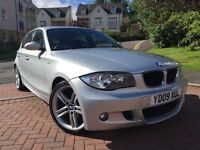 *12 MONTHS WARRANTY*2008(09)BMW 1 SERIES 2.0 M/SPORT 5DR WITH ONLY 67,000 MILES-FULLY LOADED*