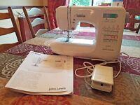 Electric Sewing Machine John Lewis JL300C as new