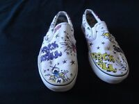 "VANS unisex printed shoes, trendy ""rock n Roll"" print, good condition, 6.5 UK adult size"