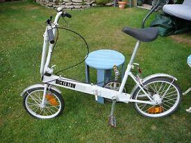 BICKERTON vintage folding bicycle original old grey for restoration cycle pushbike
