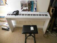 SDP-2 Stage Piano by Gear4music - White, with stand and accessories