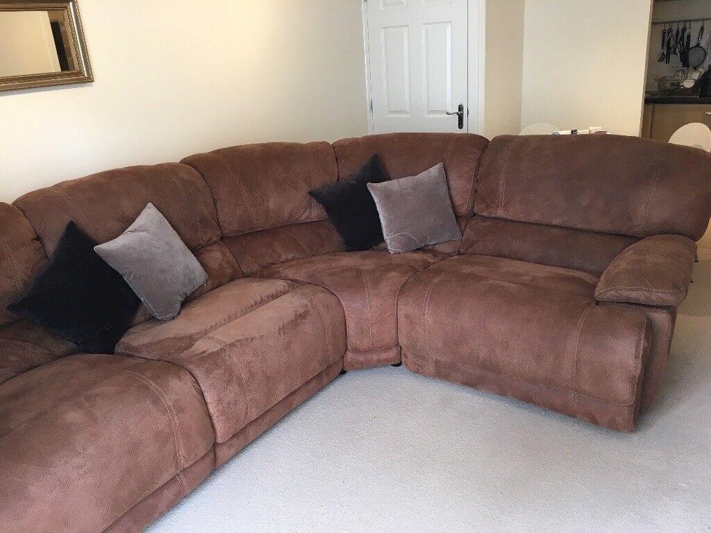Brown Suede Sofa | in Watford, Hertfordshire | Gumtree