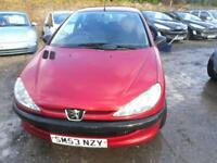 PEUGEOT 206 1.1 Style 3dr IDEAL STARTER VEHICLE MOT NOV 2018 WORTH A LOOK (red) 2003