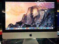 """iMac:- Core i5-2.5 GHz,21.5"""",500GB HDD, 8GB RAM,OSX EL-Capitan,Office 2011,Warranty 3-6 months"""