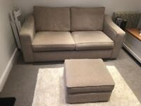 3 Seater Sofabed and Matching Footstool