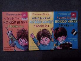 3 x Horrid Henry Books by Francesca Simon