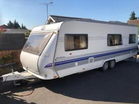 Hobby caravan 640 vip collection (2008) like tabbert/fendt. On board battery and awning