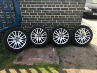 """**4 x 17"""" Audi A4 Alloy Wheels With Good Tyres - 5x112 - Not S4 A4 A3 A6 S6**"""