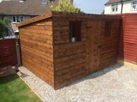 NEW HIGH QUALITY T&G 8x6 PENT ROOF GARDEN SHEDS £389.00 ANY SIZE (FREE DELIVERY AND INSTALLATION)
