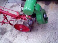 vintage petrol rotovator tiiler cultivator