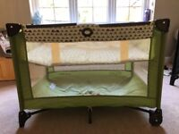 Excellent condition: Green Graco Travel Cot