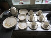"""""""Harvest"""" dinner service - dinner plates, tea plates, side plates, cups, saucers and teapot"""