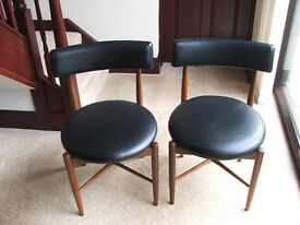 G Plan Teak/Black Dining Chairs - Vintage