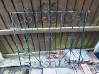 iron garden gate, decorative, heavy, fixings included