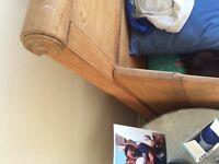 Danish antique sleigh bed