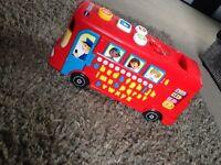 Baby walker & alphabet bus £10