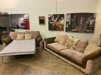 DFS FABRIC SOFA SET 4+2 SEATER + PULL OUT BED