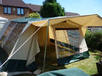 Cabanon Elody 6 Berth Frame Tent, Sun Canopy and Accessories