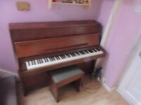 FREE Upright Piano and stool with storage