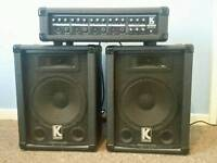 60w 4 channel PA mixer amp and speakers