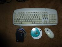 Keyboard and Mouse - LOGITECH Cordless Desktop