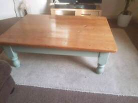Chunky Large Coffee Table with Draw