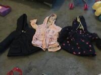 3 baby girls next coats size 6-9 months